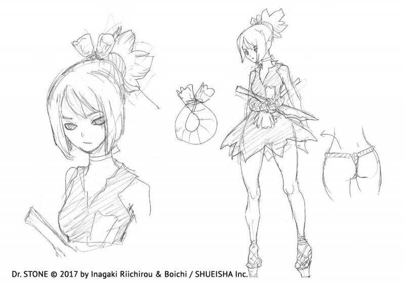 Dr Stone Kohaku Sketch