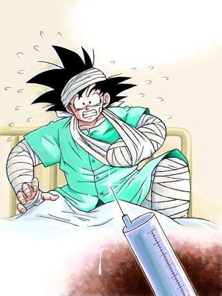Goku e la paura verso gli aghi