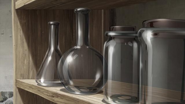 invenzioni di senku - vetro