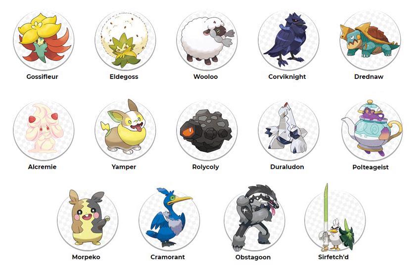 Nuovi Pokémon di Ottava Generazione della regione Galar attualmente annunciati