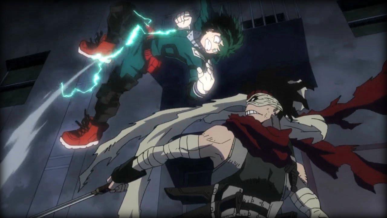 5 migliori scontri My Hero Academia: Stain vs Deku, Iida e Todoroki