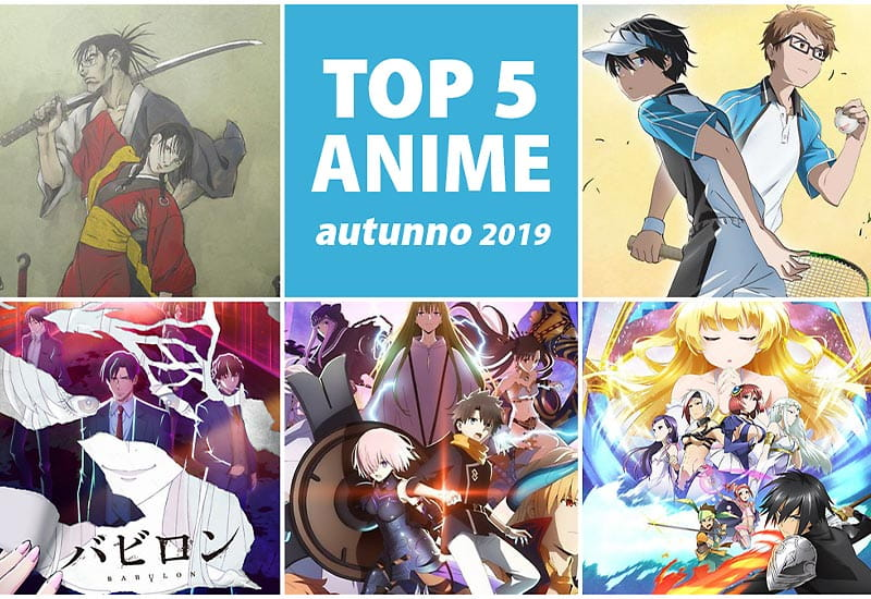 top 5 anime autunno 2019