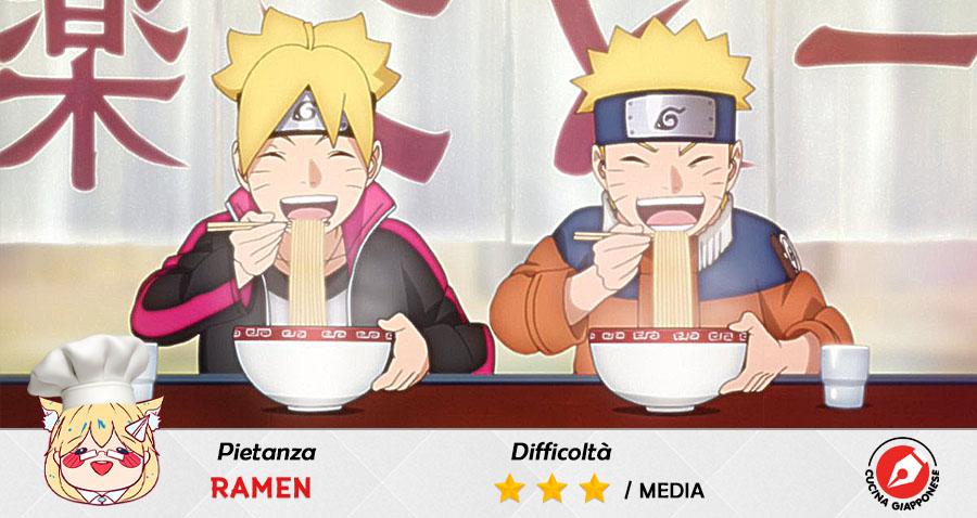 Naruto e Boruto mangiano Ramen