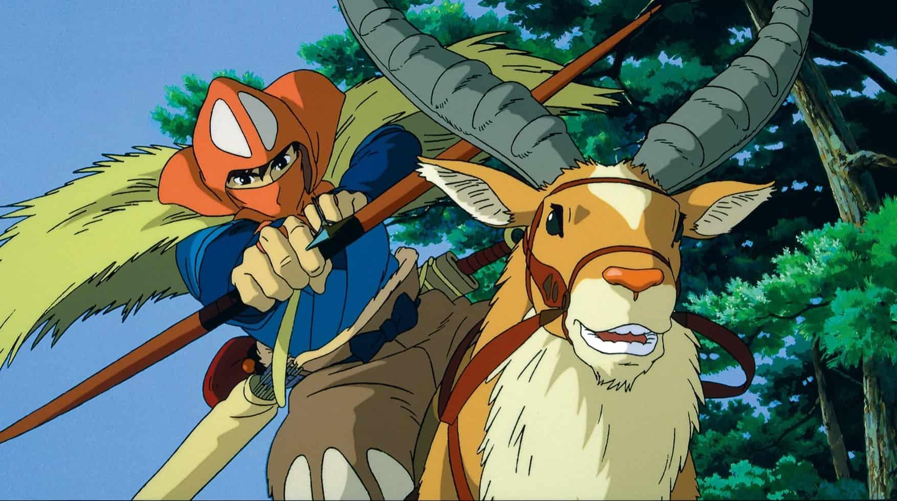 arcieri negli anime - ashitaka