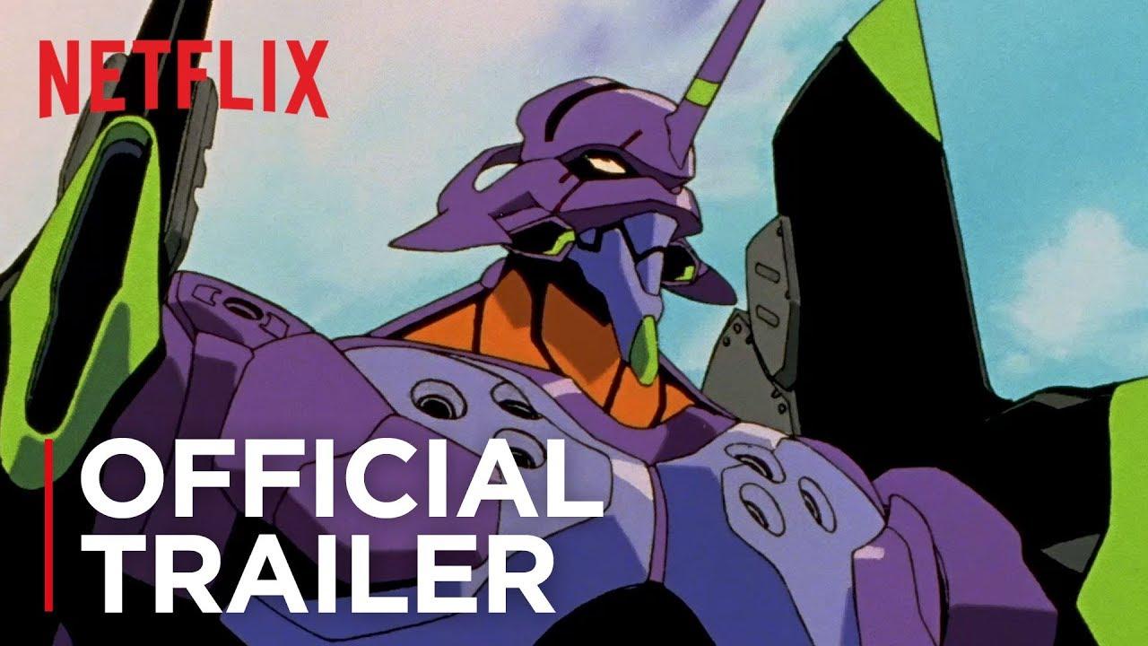 Il trailer ufficiale di Neon Genesis Evangelion su Netflix con l'Eva 01 sullo sfondo