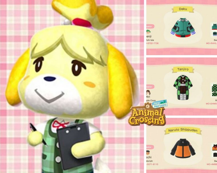 Animal Crossing design ispirati agli anime