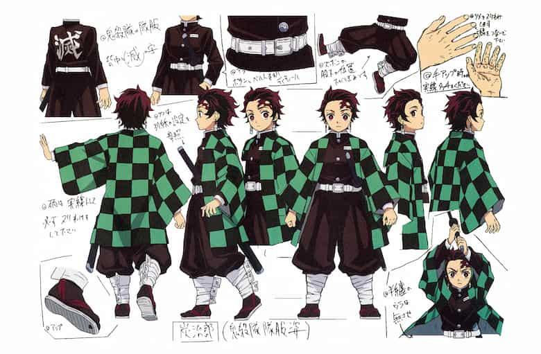 KAMADO TANJIRŌ, immagine per il character design