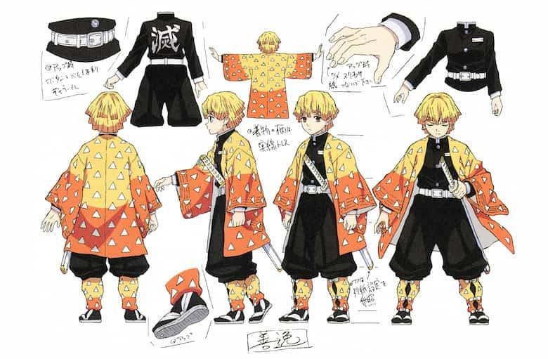 AGATSUMA ZENITSU, immagine per il character design