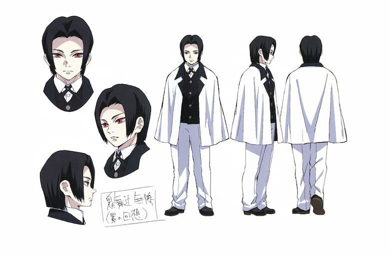 KIBUTSUJI MUZAN, immagine per il character design