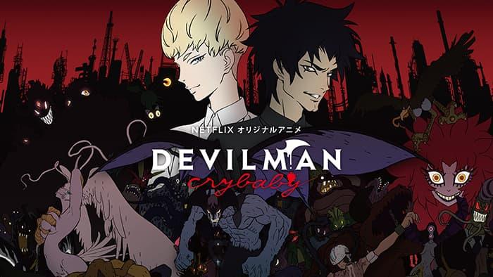 Poster di Devilman Crybaby di Netflix.